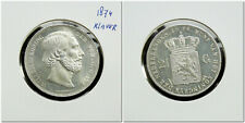Netherlands - 2½ Gulden 1874 (klaver) Prachtig / UNC-