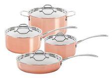 CONCORD 8 PC Premium Natural Copper Triply Cookware Set Pot Pan