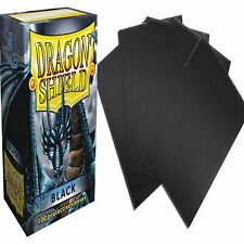 100 Protective Sleeves Black Nero MTG Magic Dragon Shield