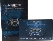 Longines Watch Warranty Guarantee Blank Certificate Card & Instruction Booklet