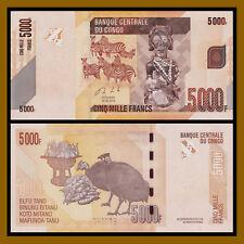 Congo D.R Democratic Republic 5000 Francs 2013 P-102 Error Missing Serial Number