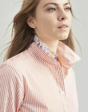 Joules White Orange Stripe Lucie Printed Stripe Woven Shirt Size 10