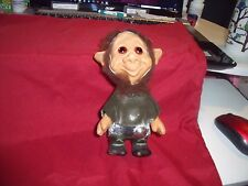 """1960S Vintage Viking? Troll with original outfit, 6-3/4"""" tall, Amber eyes Beard"""