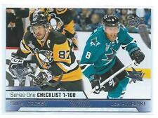 2016-17 Upper Deck - Series One - Checklist 1-100  Crosby-Pavelich