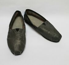 Toms Womens Shoes Flats Fabric Upper Metallic Silver Size US 7.5