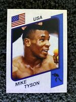 1986 Panini Supersport Italian Mike Tyson ROOKIE RC #153 Re-Print Awesome!!