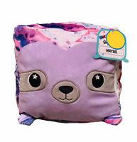 Moosh Moosh Squared Pillow Soft Premium Plush Squishy Stuffed Animal Purple Toy