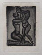 Georges ROUAULT : Les amants enlacés - GRAVURE ORIGINALE SIGNEE #1955