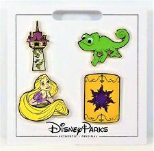 Disney 2017 Tangled Rapunzel & Pascal & Tower 4 Pin Mini Booster Set NEW CUTE