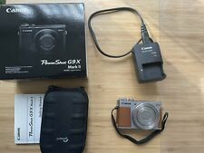 Canon PowerShot G9 X Mark II 20.1MP Digital Camera - Silver with lowepro case