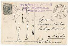 Tredici Laghi - Battaglione Fenestrelle -  per Nicastro - 08 -08 1922 - 705 E