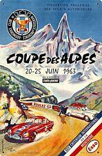 """Plaque Métal Rouillée """"Coupe des Alpes"""" (pst 1812)"""