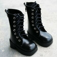 [PF] 16# Black 1/4 MSD LUTS BJD Dollfie Synthetic High Cut Leather Boots/Shoes