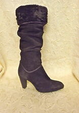 WOMEN-PREVIEW INTERNATIAL BROWN suede LEATHER SLOUCH Tall Boot SHOES SZ 8.5