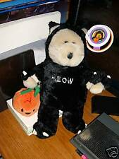Starbucks Bearista Bear Halloween #22 Black Velvet tags