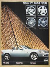 1997 Mercedes SLK230 Kompressor photo MOMO Wheels vintage print Ad