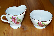 WINDSOR BONE CHINA Cream And Sugar Bowl set - made in England - numbered