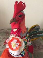 Tilda-doll-Handmade- Decor- Toy-The symbol of the year is the fiery Cock.