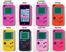 NINTENDO GAME BOY APPLE IPHONE 4 4G 4S SOFT SILICONE CASE SKIN BACK COVER.