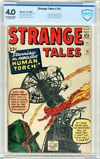 Strange Tales  #101  CBCS  4.0   VG   Off -white to wht pgs 10/62  Human Torch s