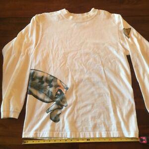 Oakley BOB Head L/S T shirt white mens L large Skull Rare Vintage collectible