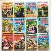 Lot of 12 Great Illustrated Classics of Children's Literature - Hardcover Books