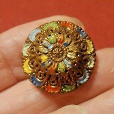 "Vintage 7/8"" Metal Tchecoslovaqie Button"