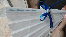 ventaglio matrimonio bomboniera wedding bag nomi bianco con cuore e fiocco