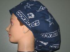 Surgical Scrub Hats/Caps NFL Dallas Cowboys Dark Blue with Stars & Helmets