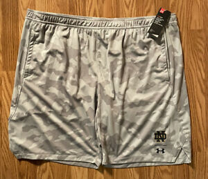 Notre Dame Football Team Issued Under Armour Shorts Camo New Tags 3xl