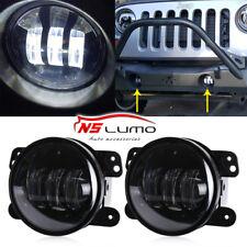 """2x 4"""" Inch 30W LED Fog Lights & Halo Angle Eyes For 07-18 Jeep Wrangler JK Dodge"""