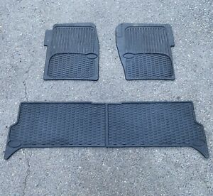 1999-2004 Land Rover Discovery II OEM Rubber Floor Mat Set Front & Rear Seats