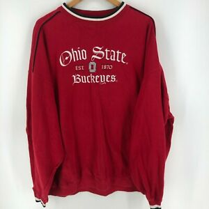 Cadre Athletic Crewneck Sweater Men's 2XL Red Ohio State Buckeyes Embroidered