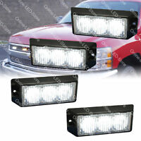 4pc 3W White LED Police Security EMS Firefighter Personal Vehicle Warning Lights