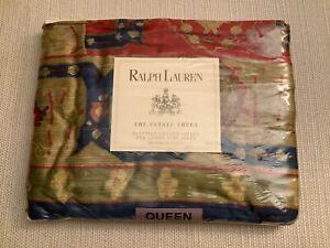 Ralph Lauren Conservatory Red Queen Flat Sheet New