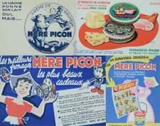 LOT 4 BUVARDS 1950 MÈRE PICON FROMAGE HAUTE-SAVOIE GRUYÈRE VACHE PUB SAVOYARDE