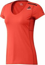 REEBOK Women's T-Shirt Top OS AC, Fitness Sport, Orange / Carote, M