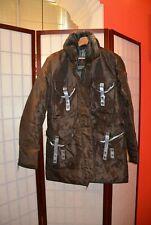 Peuterey fur collar brown padded jacket coat 44 (#18)