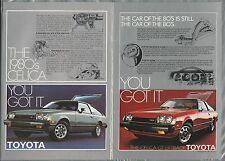 1978 TOYOTA Celica advertisements x2, Toyota ads, CELICA GT Liftback