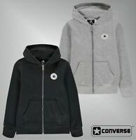 Boys Converse Long Sleeves Chuck Zip Hooded Jacket Sizes Age from 8 to 15 Yrs