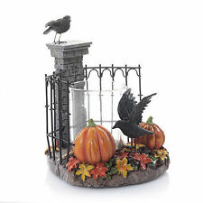 YANKEE CANDLE ~ HALLOWEEN ~ SPOOKY GATES RAVEN VOTIVE HOLDER ~NEW ~ SOLDOUT