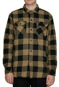Element Jimbo Quilted Flannel Plaid LS Shirt Jacket, Size M. NWOT, RRP $89.99.