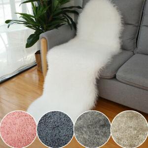 Shaggy Soft Faux Sheepskin Fur Rug Non Slip Living Room Carpet Floor Mat Decor