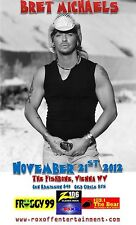Bret Michaels 2012 Vienna, Wv Concert Tour Poster- Glam Metal, Hard Rock, Poison