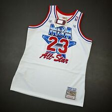 100% Authentic Michael Jordan Mitchell & Ness 91 All Star Jersey Size 44 L Mens