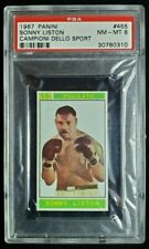 1967 Panini Campioni Dello Sport Sonny Liston Boxing Card PSA 8 NM-MT Sharp!