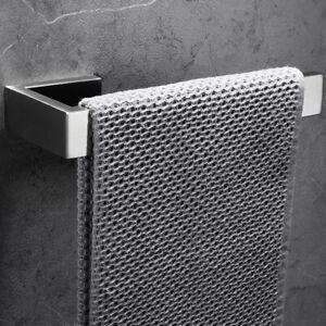 Stainless Steel Home Towel Ring Single Bar Bathroom Wall Mounted Towel Holder LI