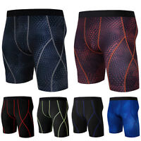 Mens Compression Shorts Briefs Skin Tights Base Layer Under Pants Sport Wear