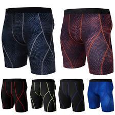 Mens Boy Skins Compression Short Pants Workout Running Gym Sport Fitness Bottoms
