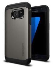 Samsung Galaxy S7 Hülle, Spigen [Tough Armor] Schwerschutz [Gunmetal] Doppelte